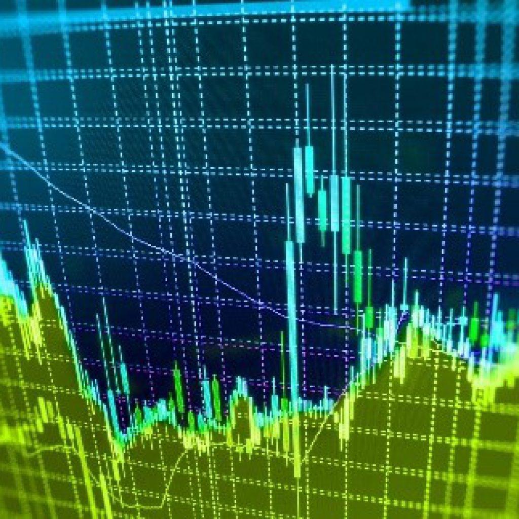 Börsengrafik auf Anzeige