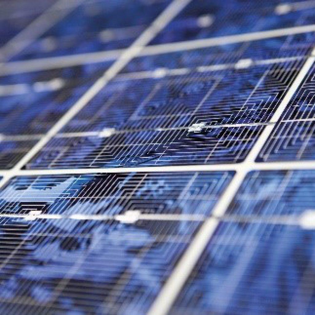 Nahaufnahme eines Solarmoduls